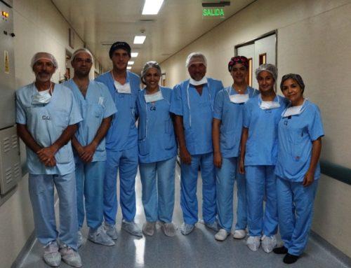 Primer trasplante de córnea en el Rawson